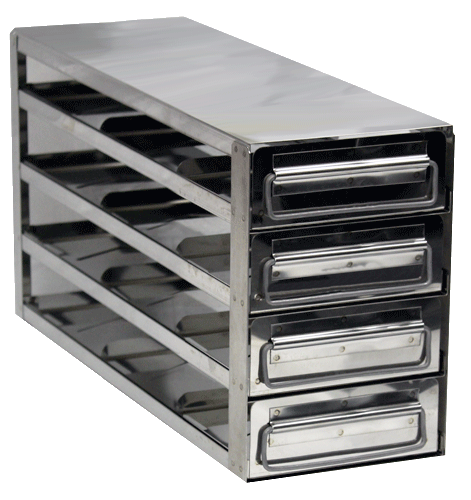 Value Series Upright Freezer Rack With Drawers For Standard 2 Bo Only 3 Deep X 4 High