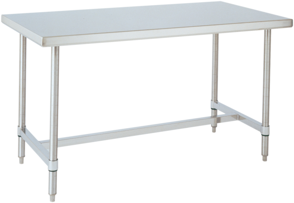 Stainless Steel Tables With Bottom H Frame