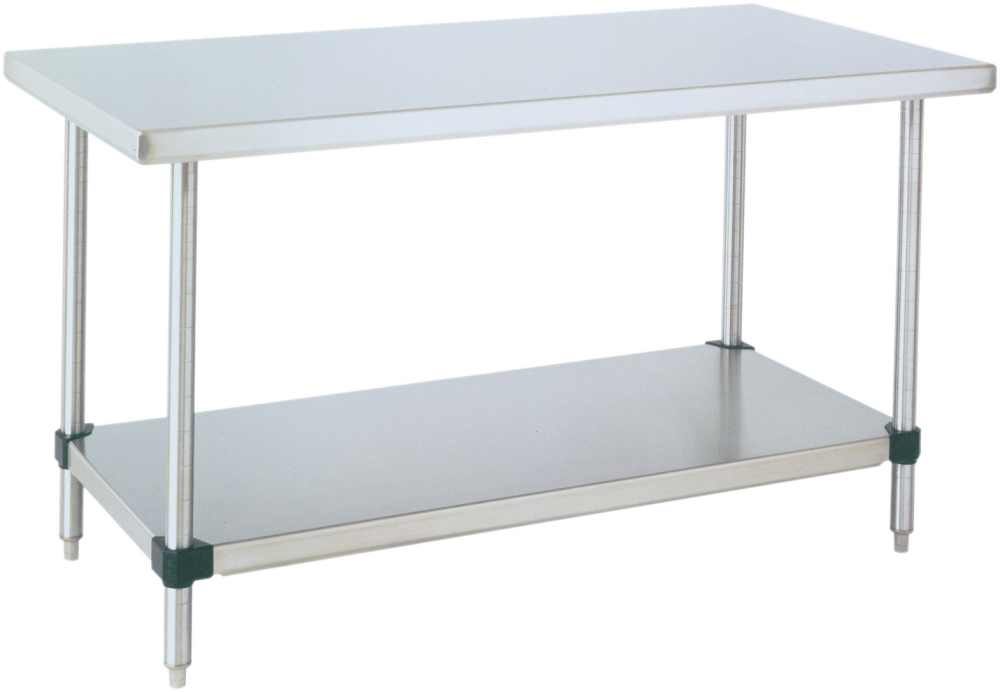 HD Super™ Stainless Steel Work Table with Stainless Steel Bottom Shelf -  36\