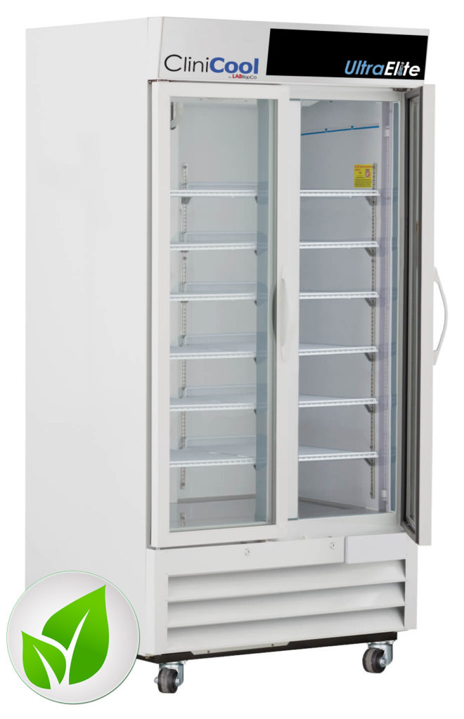 CliniCool© Ultra Elite Series 36 Cu. Ft. Hinged Glass Door Pharmacy/Vaccine Refrigerator