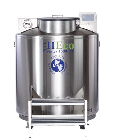 Chart mve heco 1539p 190 ln2 freezer w full auto fill gas bypass