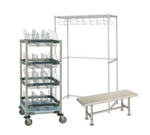 Gowning Racks, Benches and Storage