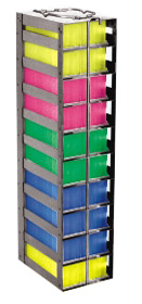 Vertical Freezer Racks for 100-cell Hinged Top Boxes