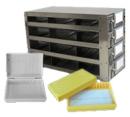 Upright Freezer Racks for 25-place Slide Boxes