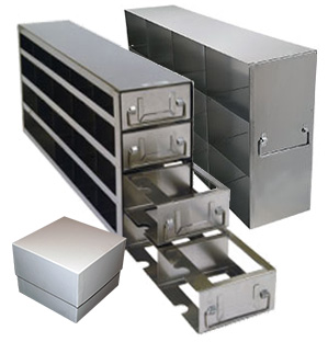 "Upright Freezer Racks for 3.75"" Boxes"