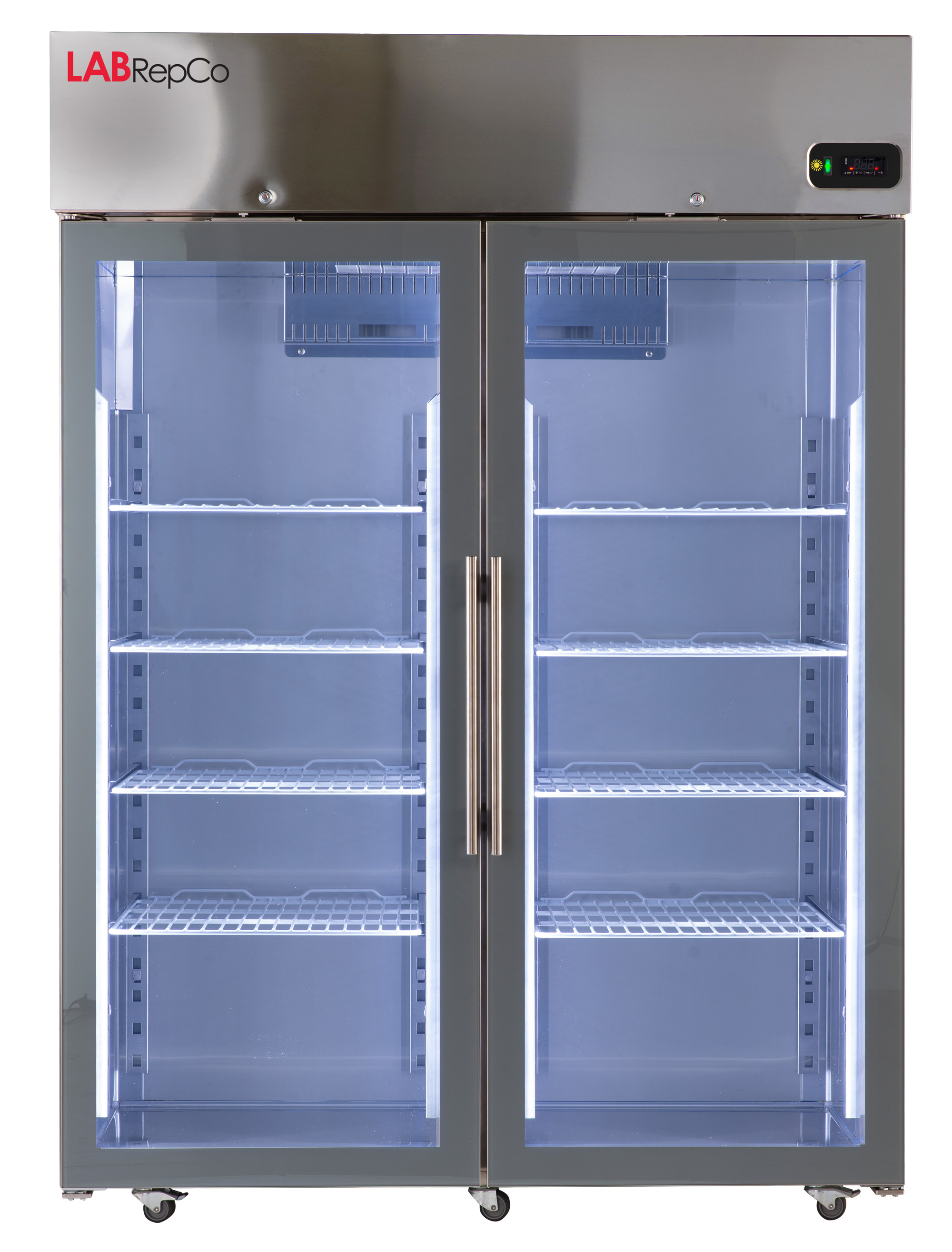 Futura LD Series 49 Cu  Ft  Stainless Steel Hinged Glass Door Refrigerator
