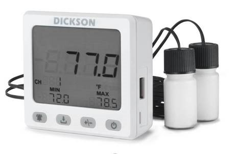 Data Logger Monitoring Kit for -20°C Vaccine Storage Temperatures (w/ Dual Temperature Thermistor with Buffer & Software)